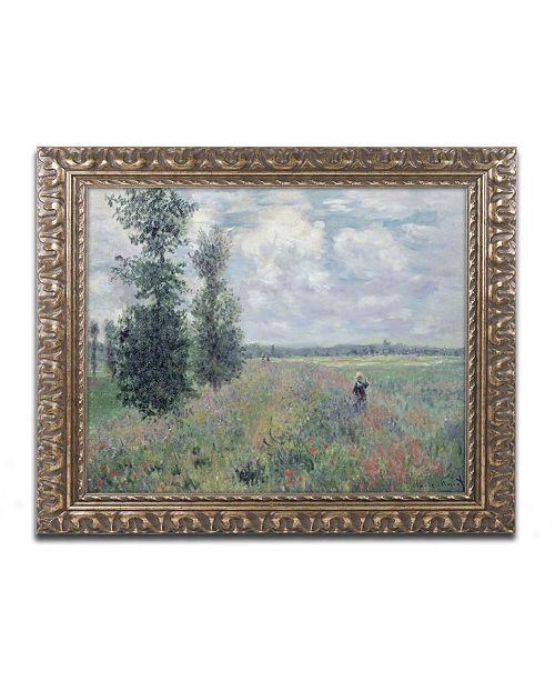 """Trademark Global Claude Monet 'The Poppy Field' Ornate Framed Art - 16"""" x 20"""""""