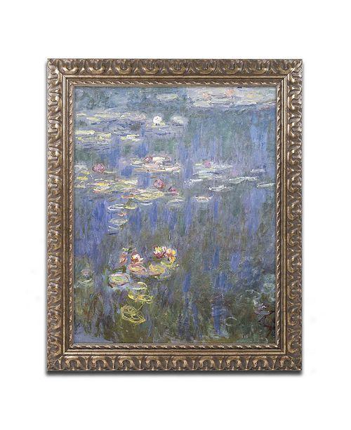 "Trademark Global Monet 'Water Lilies IV 1840-1926' Ornate Framed Art - 16"" x 20"""
