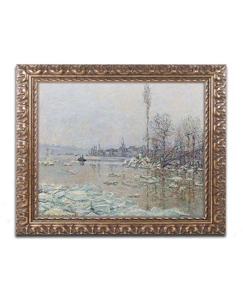 """Trademark Global Monet 'The Breakup of Ice 1880' Ornate Framed Art - 16"""" x 20"""""""