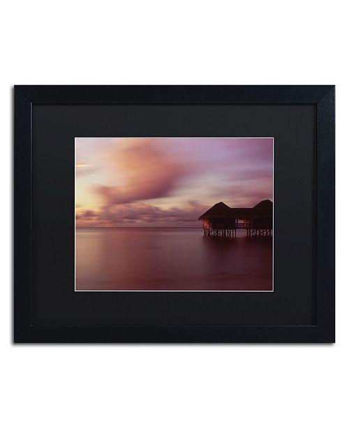 "Trademark Global David Evans 'New Day-Maldives' Matted Framed Art - 16"" x 20"""