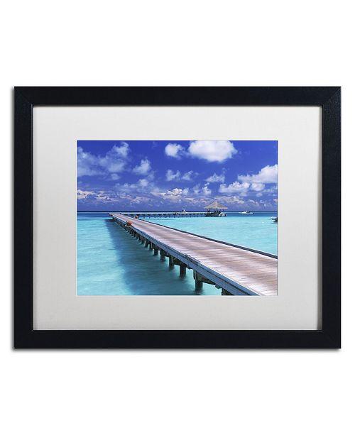 "Trademark Global David Evans 'The Jetty-Gili Lankanfushi' Matted Framed Art - 16"" x 20"""