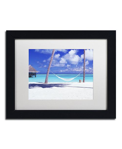 "Trademark Global David Evans 'View for One-Maldives' Matted Framed Art - 11"" x 14"""