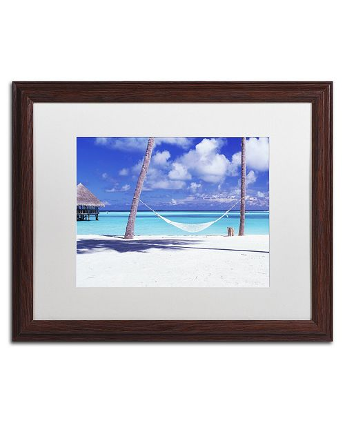 "Trademark Global David Evans 'View for One-Maldives' Matted Framed Art - 16"" x 20"""
