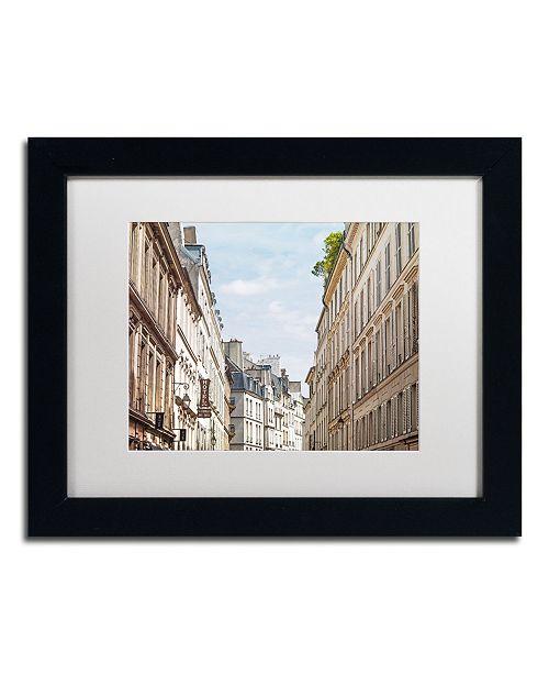 "Trademark Global Preston 'Parisian Buildings' Matted Framed Art - 11"" x 14"""