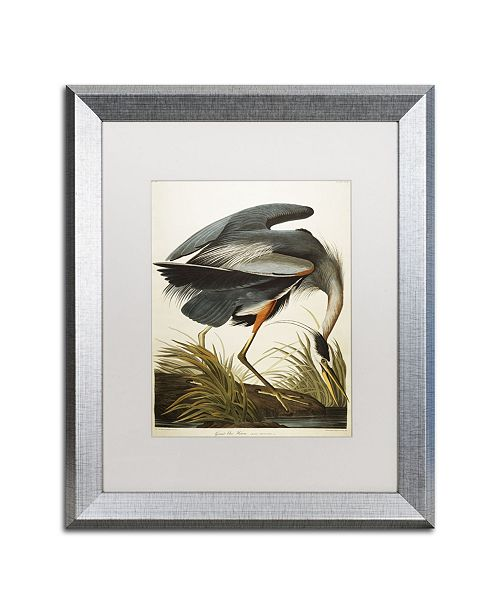 "Trademark Global John James Audubon 'Great Blue Heron' Matted Framed Art - 16"" x 20"""