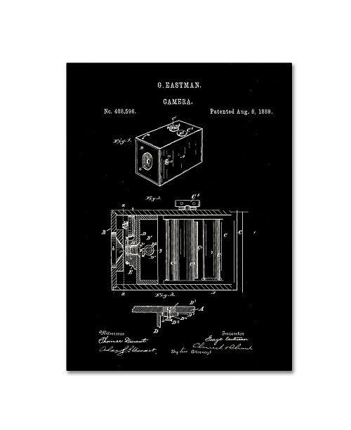 """Trademark Global Claire Doherty 'George Eastman Camera Patent Black' Canvas Art - 18"""" x 24"""""""