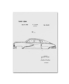 "Claire Doherty 'Tucker Sedan Patent 1949 White' Canvas Art - 35"" x 47"""