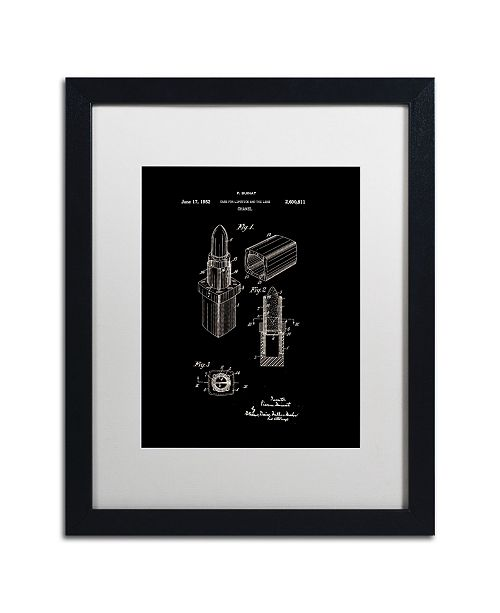 "Trademark Global Claire Doherty 'Chanel Lipstick Case Patent White' Matted Framed Art - 16"" x 20"""