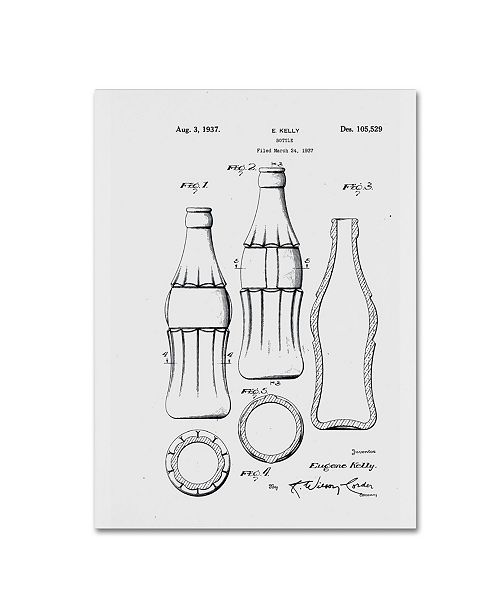 """Trademark Global Claire Doherty 'Coca Cola Bottle Patent 1937 White' Canvas Art - 35"""" x 47"""""""