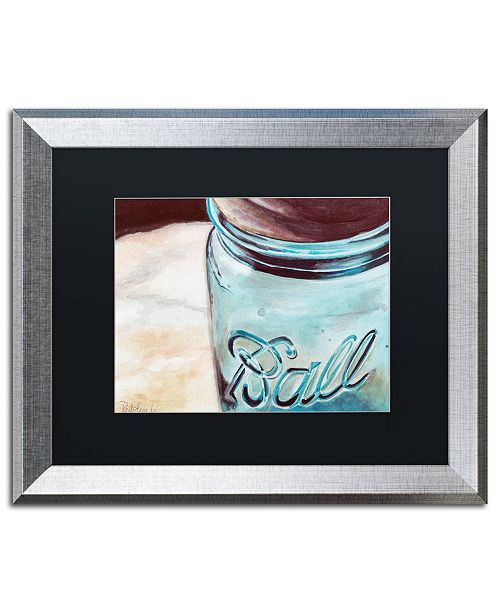 "Trademark Global Jennifer Redstreake 'Ball Jar' Matted Framed Art - 16"" x 20"""