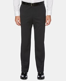 Perry Ellis Men's Portfolio Modern-Fit Performance Stretch Heathered Stripe Dress Pants
