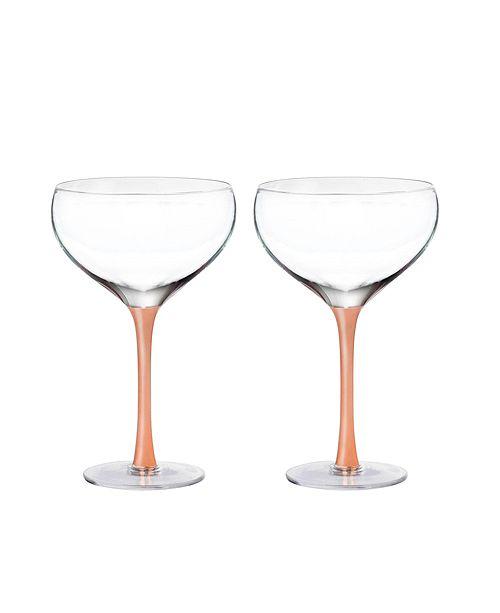 Jay Imports Geneva Champagne Coupe - Set of 2