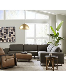 Laser Fabric & Leather Sectional Collection