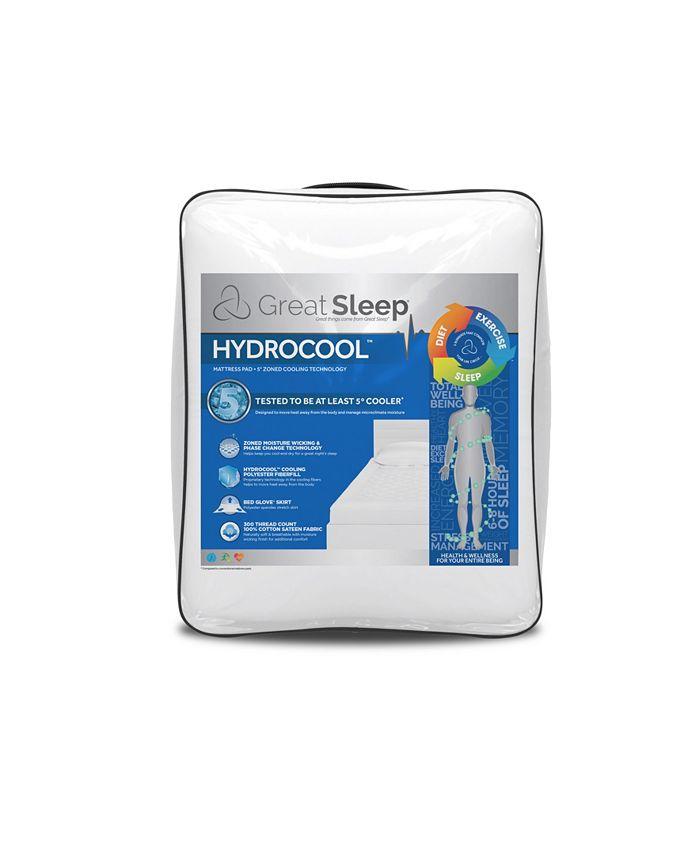 Great Sleep - Hydrocool 5 Degree Zoned Twin Mattress Pad