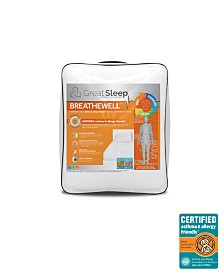 Great Sleep Breathewell Certified Asthma & Allergy Friendly King Mattress Pad