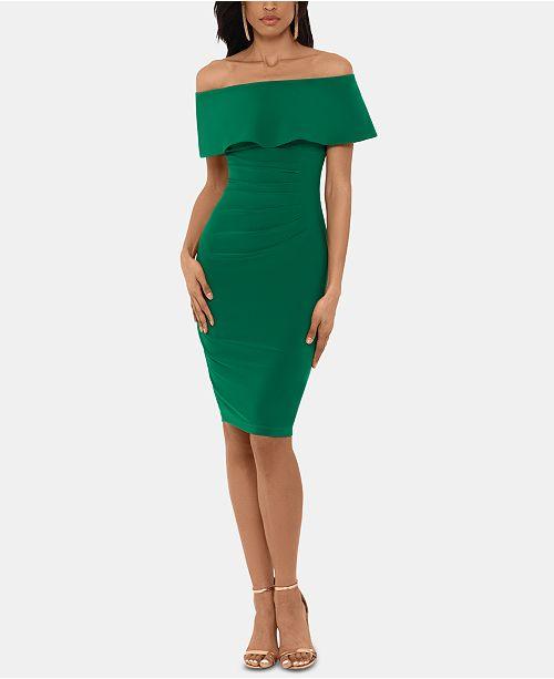 XSCAPE Off-The-Shoulder Sheath Dress
