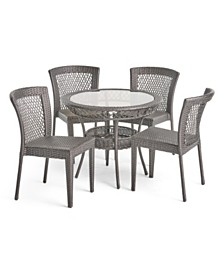 Farley Outdoor 5pc Dining Set, Quick Ship