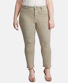 Plus Size High-Rise Cropped Jeans