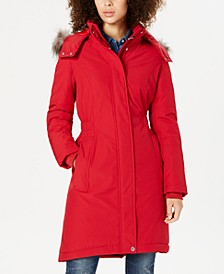 Hooded Faux-Fur-Trim Puffer Parka