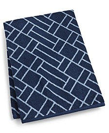 "Block Geo Cotton 30"" x 56"" Bath Towel, Created for Macy's"