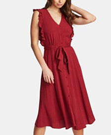 1.STATE Belted Midi Dress