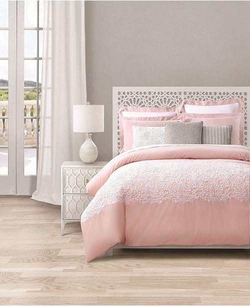Lacourte Intarsia Blush 8-Pc. Comforter Sets