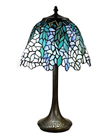 Pelle Wisteria Brass Tiffany Table Lamp