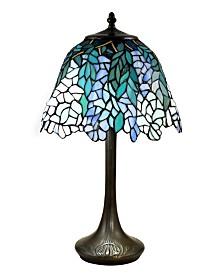 Dale Tiffany Pelle Wisteria Brass Tiffany Table Lamp