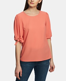 1.STATE Tie-Sleeve Blouse