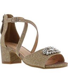 Badgley Mischka Little & Big Girls Pernia Gems Sandals