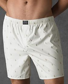 Polo Ralph Lauren Men's Underwear, Allover Pony Woven Boxers