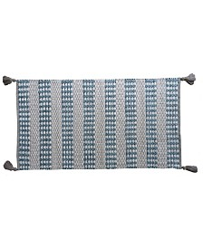 Chicos Home Modern Area Accent Rug 2' x 3.75' with Fringes