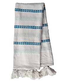 Chicos Home Cotton Soft Throw Blanket for Cozy and Modern Home