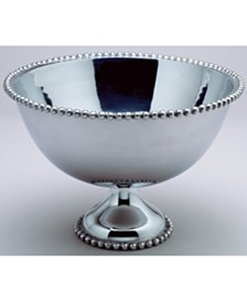 "St. Croix KINDWER Huge 16"" Beaded Aluminum Punch Bowl"