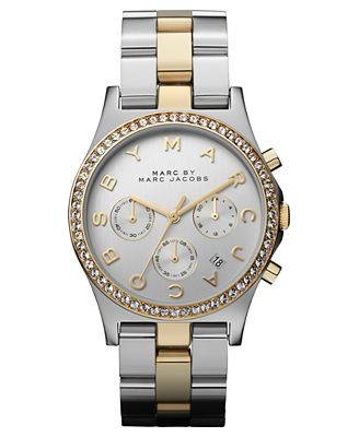 marc by marc jacobs watch women 39 s chronograph two tone. Black Bedroom Furniture Sets. Home Design Ideas
