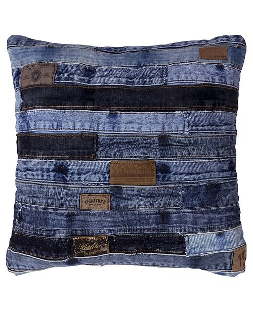 "St. Croix Jeans Re-Purposed Denim Pillow, 18"" x 18"""