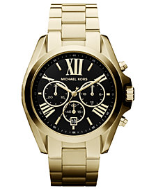 Michael Kors Women's Chronograph Bradshaw Gold-Tone Stainless Steel Bracelet Watch 43mm MK5739