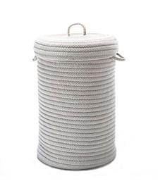 Wool Blend Braided Hamper with Lid