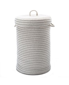 Colonial Mills Wool Blend Braided Hamper with Lid