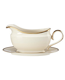 Lenox Eternal Gravy Boat and Stand