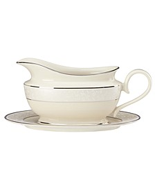 Pearl Innocence Gravy Boat and Stand