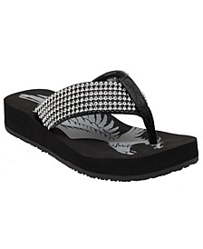 Women's Jeweled Low Thong Sandal