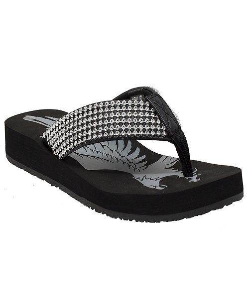 Shaboom Women's Jeweled Low Thong Sandal