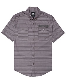 Men's Striped Chambray Woven Shirt
