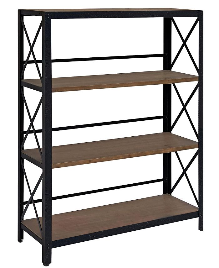 Gallerie Décor - Industrial Four Tier Shelf, Quick Ship