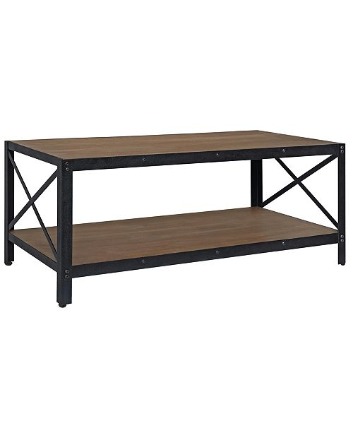 Gallerie Decor Industrial Coffee Table