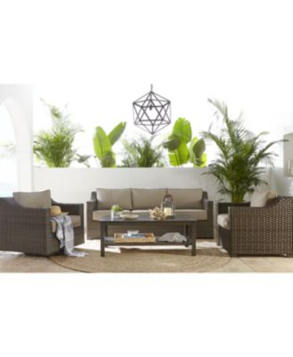 Camden Outdoor Wicker 3-Pc. Seating Set (2 Chairs & 1 End Table), Created for Macy's