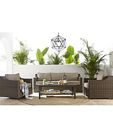 Camden Wicker Outdoor Sofa, Created for Macy's
