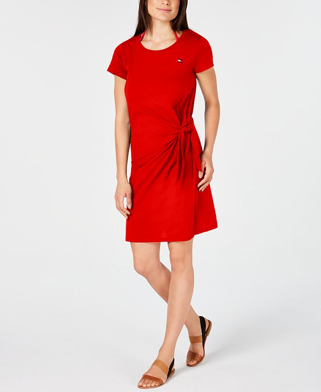 Tommy Hilfiger Tie-Front Cover-Up Dress