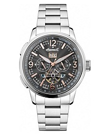 Regenet Automatic Chronograph with Stainless Steel Case and Bracelet with Grey Dial